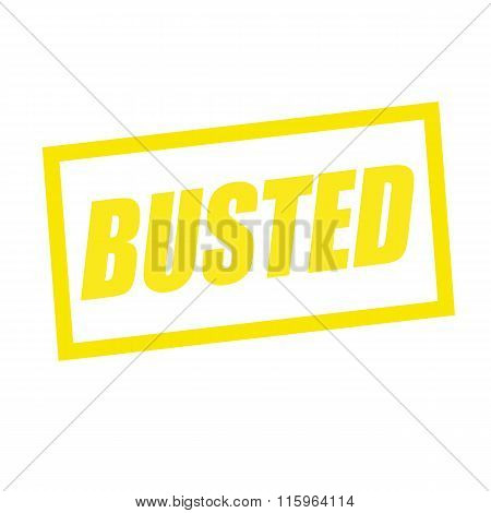 Busted Yellow Stamp Text On White