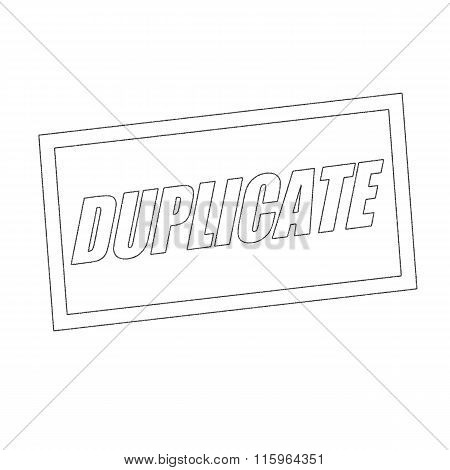 Duplicate Monochrome Stamp Text On White