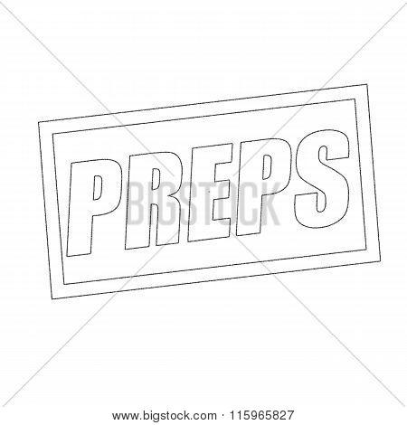 Preps Monochrome Stamp Text On White