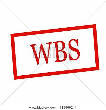 Wbs Red Stamp Text On White