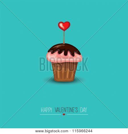 Valentine Design Greeting Card.Vector illustration