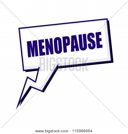 Menopause Blueblack Stamp Text On White Speech Bubbles