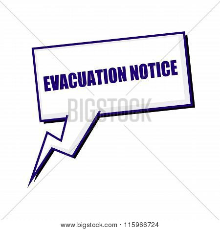 Evacuation Notice Blueblack Stamp Text On White Speech Bubbles