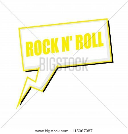 Rock N Roll Yellow Stamp Text On White Speech Bubbles