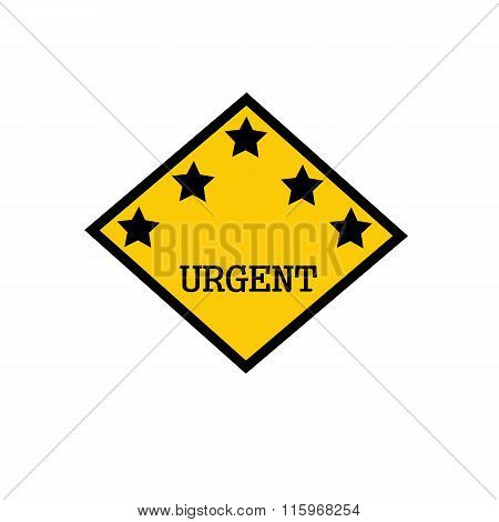 Urgent Black Stamp Text On Background Yellow And Star