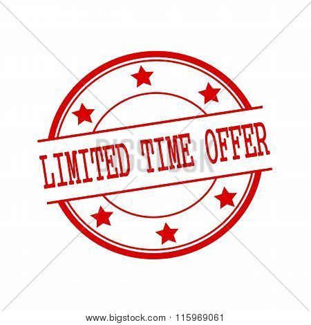 Limited Time Offer Red Stamp Text On Red Circle On A White Background And Star