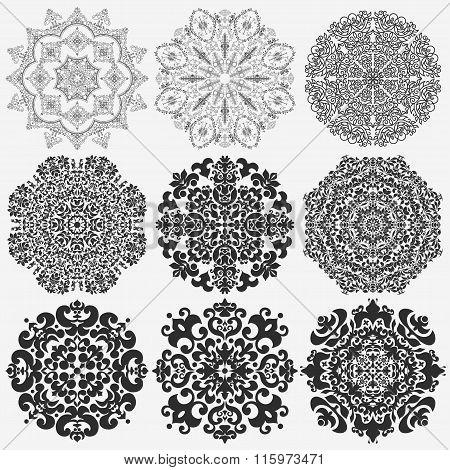 lace doily, mandala, round ornament