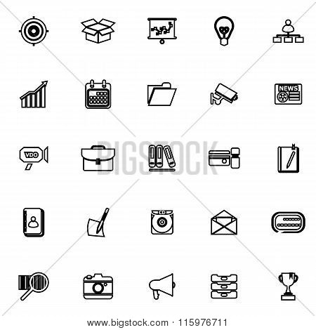 Data And Information Line Icons On White Background