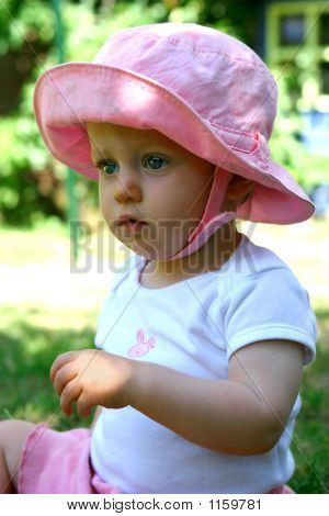 Gorgeous Baby Girl In Pink Hat