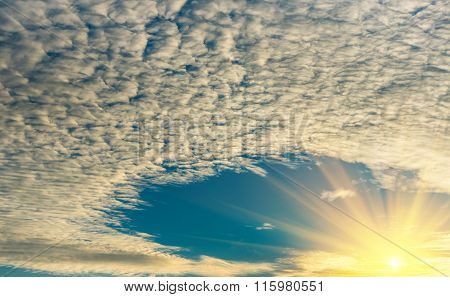 morning sky clouds