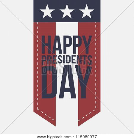 Happy Presidents Day vintage Label with Text