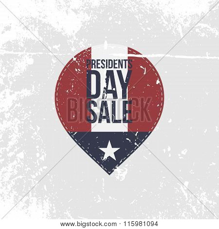 Presidents Day Sale grapgic Label with Text