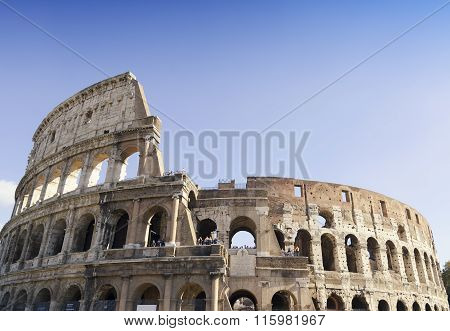 Coliseum Amphitheater In Rome