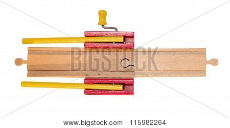 Childrens Toy, Wooden Train Track