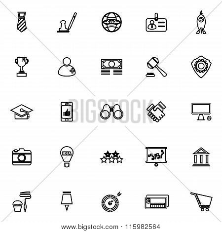 Sme Line Icons On White Background