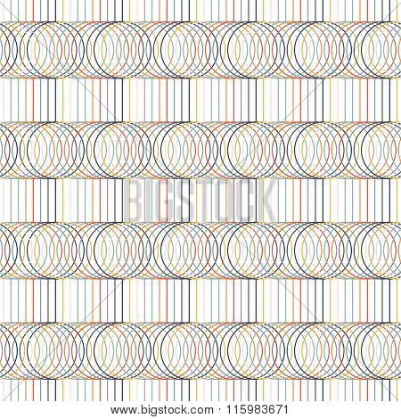 Seamless pattern. Circles and lines. Geometric.