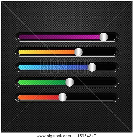 Multicolored horizontal sliders to adjust.