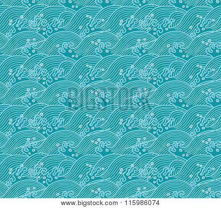 Vector Seamless Repeating Japanese Pattern Illustration