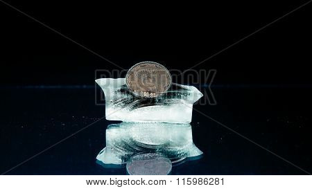 Five  cents in the ice