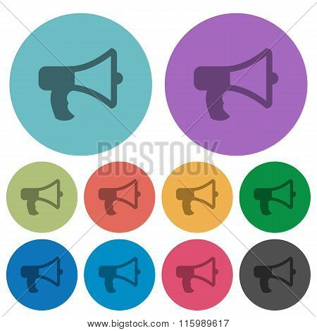 Color Megaphone Flat Icons