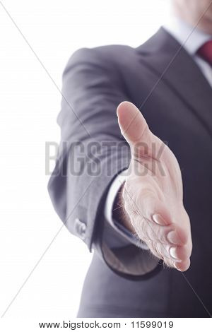 Business Man Reaching Out Hand