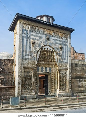 The Gates Of Karatay Madrasah In Konya