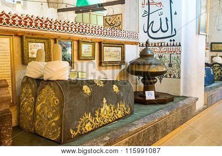 The Sarcofagi In Mevlana Mausoleum