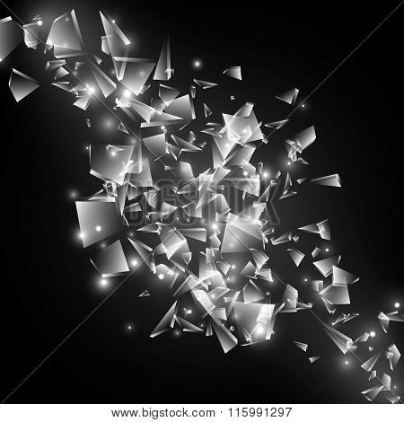 Black And White Techno Style Vector Explosion