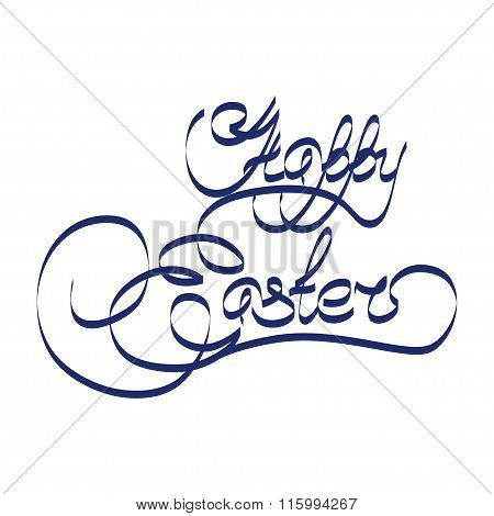 Happy Easter Handwriting Text