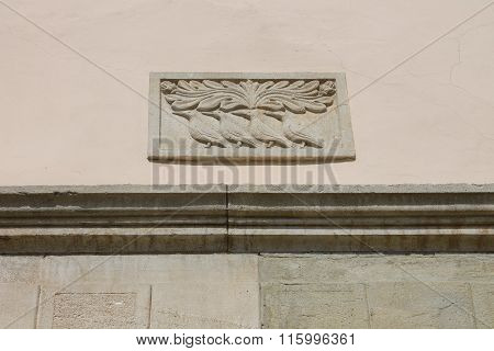 Decoration On A House In The Form Of Birds
