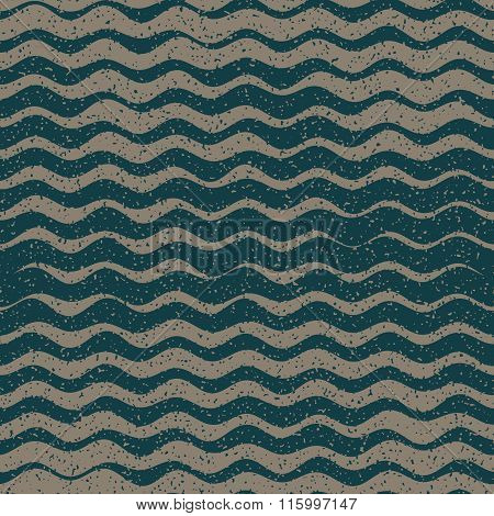 Vector Seamless Grey Grey Color Hand Drawn Rough Wavy Lines Retro Grunge Pattern