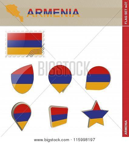 Armenia Flag Set, Flag Set #37