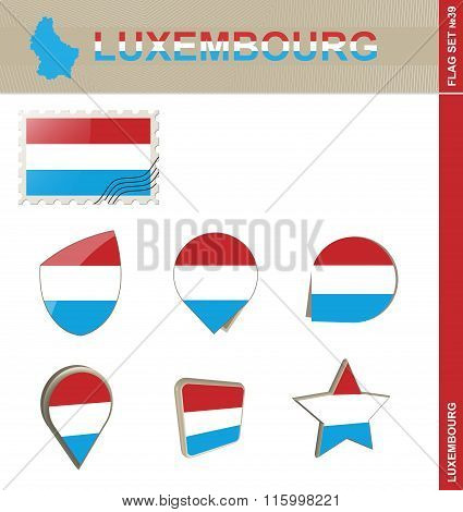 Luxembourg Flag Set, Flag Set #39