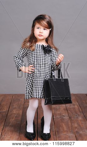Stylish kid girl
