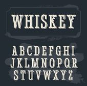 Постер, плакат: Whiskey label font