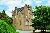 Scottish Castle Between The Trees In Summer Day poster