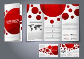 ������, ������: Template Design Three Fold Flyer Brochure