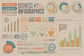 Business Infographic vector elements. Graph, icon. poster