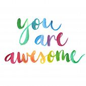 you Are Awesome Calligraphic Poster. poster