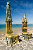 foto of malecon  - a pair of the many unique statues situated along the malecon in puerto vallarta mexico - JPG