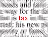 picture of tithe  - blurred text with a focus on tax - JPG
