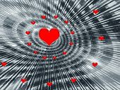 Abstraction  Background For Holidays - Valentines Day poster
