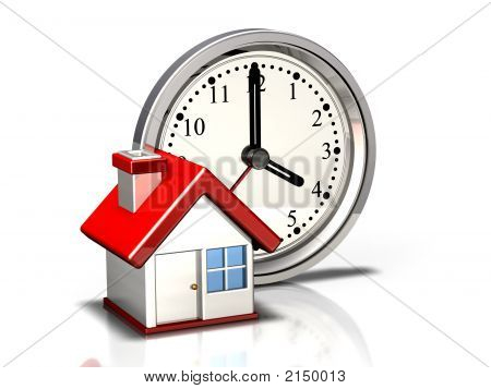 Clock Icon: Home