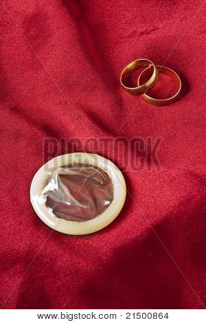 Golden Wedding Rings And Condoms