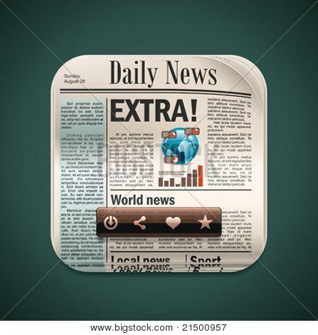 Vector square newspaper XXL icon