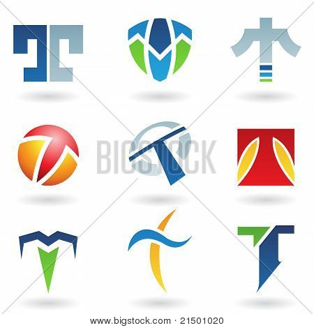 Abstract Icons For Letter T