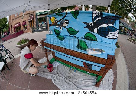 Mural Painter At Work