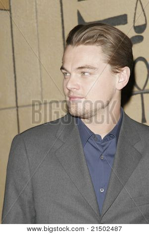 LOS ANGELES - DEC 2: Leonardo Dicaprio at the Friends of NPI (National Neuropsychiatric Institute) pre screening of 'The Aviator' at the Egyptian Theatre on December 2, 2004 in Los Angeles, California
