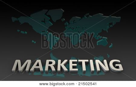 World Marketing on a Global Scale Background