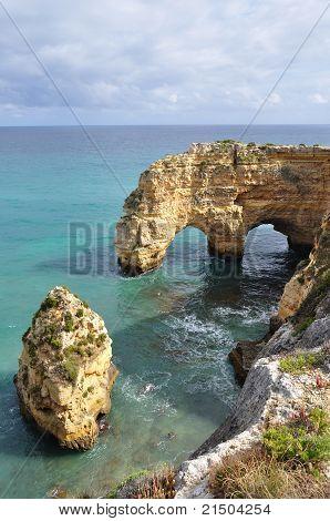 Praia da Marinha in Südportugal